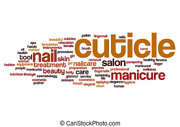 Cuticle word cloud concept