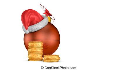 arrow percent and Christmas ball - arrow percent near the...