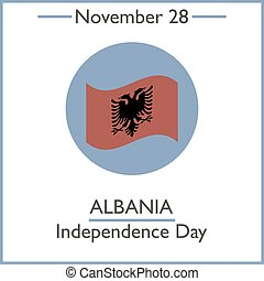 Albania Independence Day November 28 Vector illustration for...