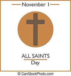 giorno,  1, tutto, Santi, novembre
