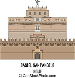 Mausoleum of Hadrian, Castel Sant'Angelo. Towering...