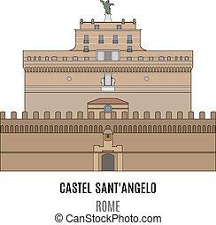 Mausoleum of Hadrian, Castel Sant'Angelo. Towering...