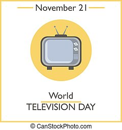 World Television Day November 21 Vector illustration for you...