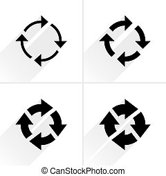 Arrow icon reload, refresh, rotation, reset sign - 4 arrow...
