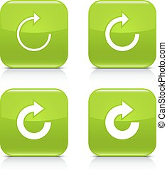Green arrow refresh, reload, rotation, repeat icon