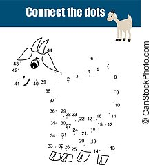 Connect the dots by numbers educational children game -...