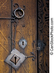 doors detail, Torpo Stavkirke, Norway