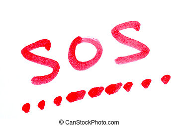 Write SOS with its morse code concepts of help