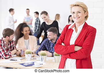 Confident and fulfilled middle-aged woman - Portrait photo...