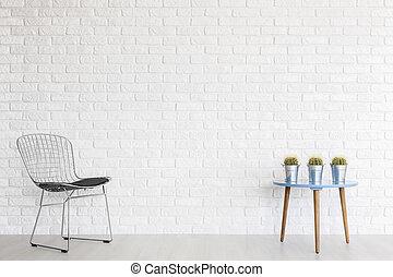 Cutting edge resting spot in a minimalist interior - Metal...