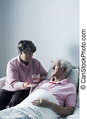Ill help you to recover - Hospice patient and his caring...