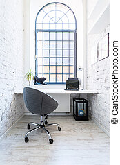 Your bright home office - Shot of a stylish cozy home office...