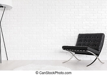 Black and white paragon of modernist decor - Black quilted...
