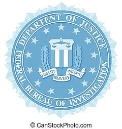 FBI Seal In Blue - The seal of the Federal Bureau of...