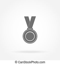 medal winner of the prize-winner on ribbon vector...