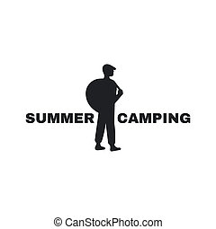 Logo for the campground. An emblem of the person with a...