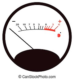 Round VU Meter No Signal - A typical analogue audio meter as...
