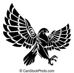 aigle,  tribal, tatouage