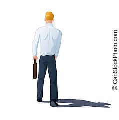 walking away - illustration of a businessman walking away on...