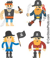 Cartoon pirate vector character