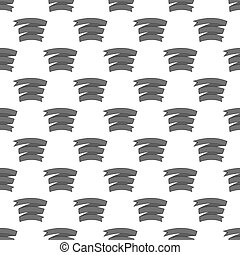 Decorative tape seamless pattern on white background. Decor...