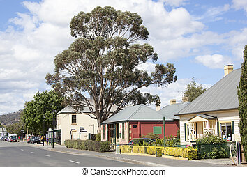 Tasmanian Town - The main street of historic Richmond town...