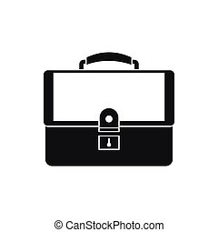 Briefcase icon in simple style on a white background vector...
