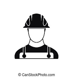 Builder icon in simple style on a white background vector...