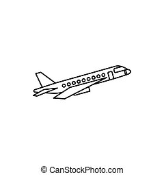 Passenger airliner icon, outline style
