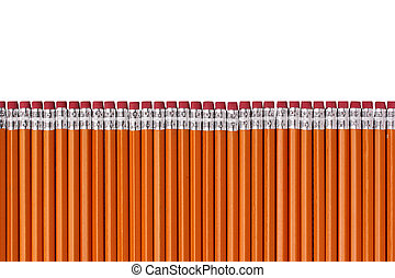 Pen with erasers - From pencils with an elastic band the...