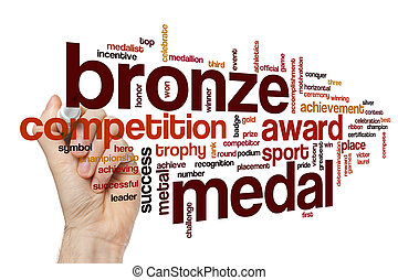 Bronze medal word cloud concept