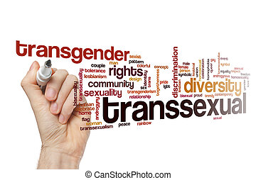 Transsexual word cloud concept
