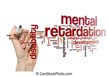 Mental retardation word cloud concept - Mental retardation...