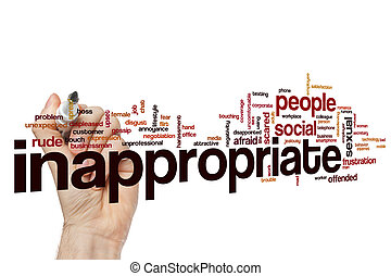 Inappropriate word cloud concept - Inappropriate word cloud