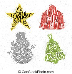 Christmas silhouettes star color