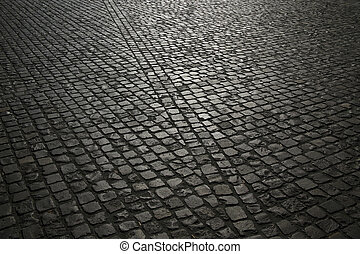 cobble pavement background