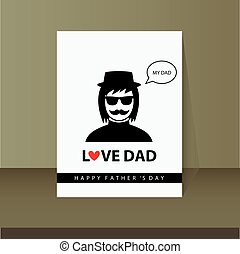 father's day card in vintage style