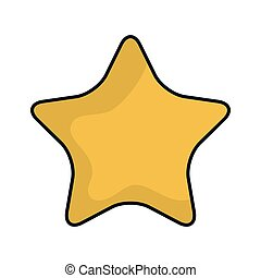 yellow star shape symbol vector illustration eps10