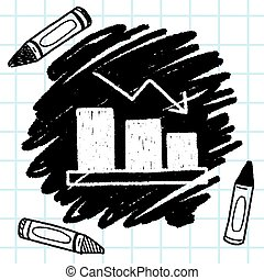 bussiness chart doodle drawing