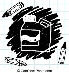 Laundry detergent doodle drawing