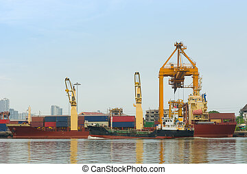Arriving of a Cargo vessel.
