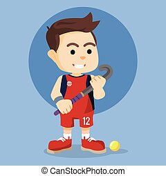 field hockey player illustration design