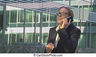 female manager calling