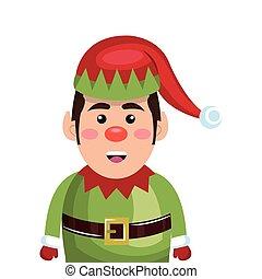 santa helper cartoon