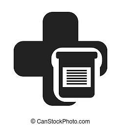 cross medical symbol with icon
