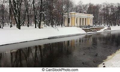 PAN: Unfrozen Moika river, StPetersburg, Russia