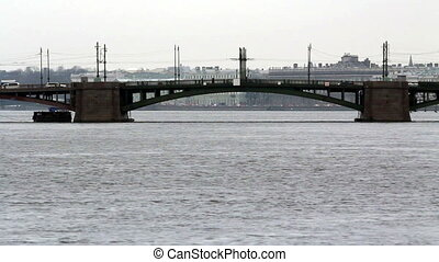 Birzhevoy Bridge (Exchange Bridge), St.Petersburg, Russia
