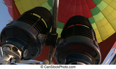 Inside Flying balloon - Flying balloon in the air.