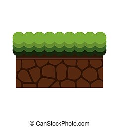 ground mud block with grass - Texture for platformers pixel...