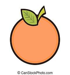 orange fruit food - orange fruit with green leaves. healthy...